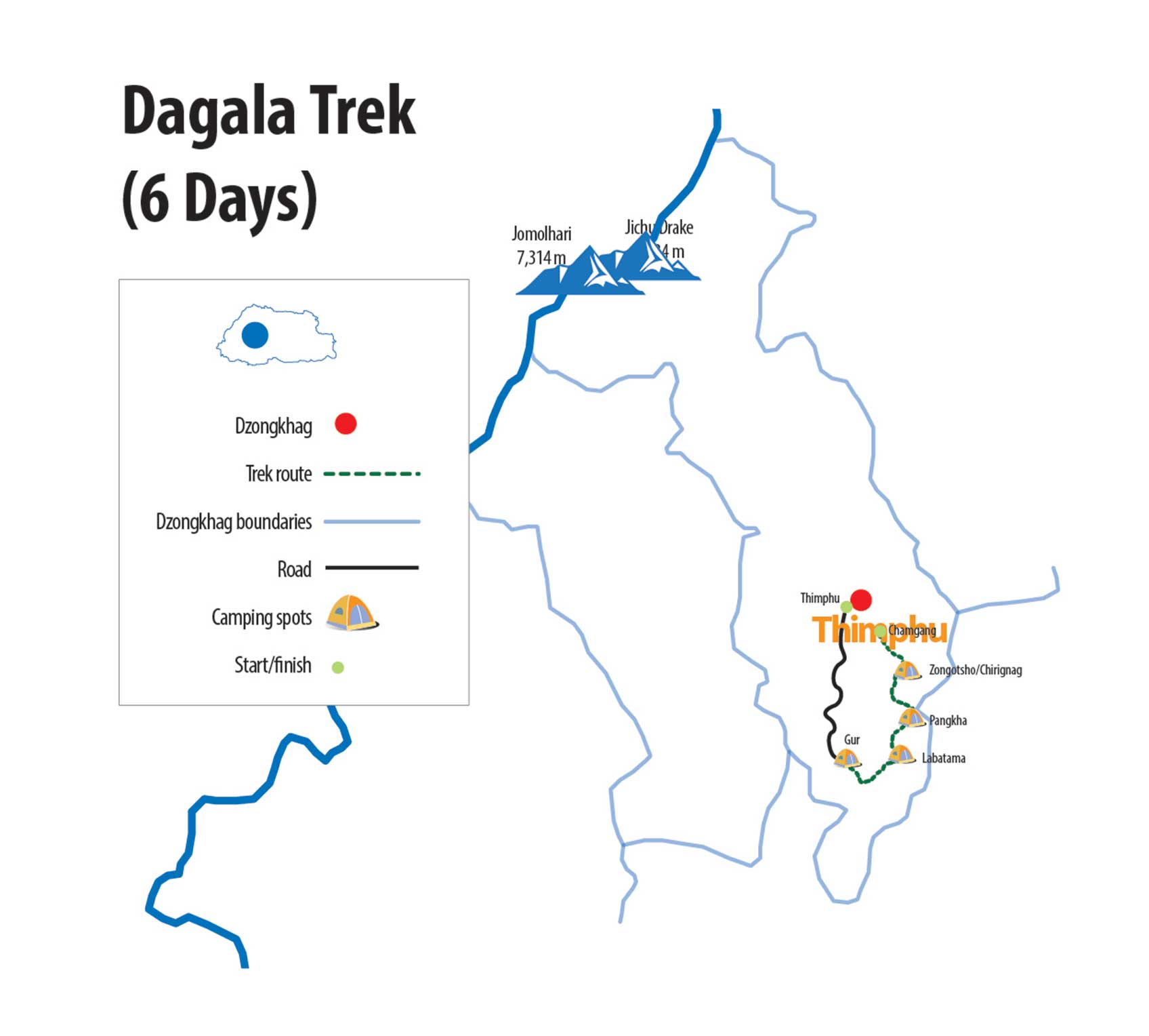 Dagala Trek Route Map