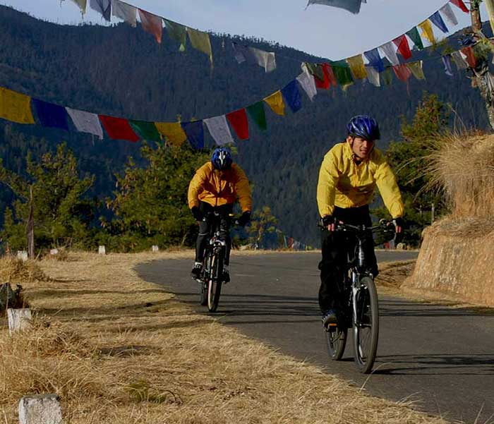 bhutan biking tours